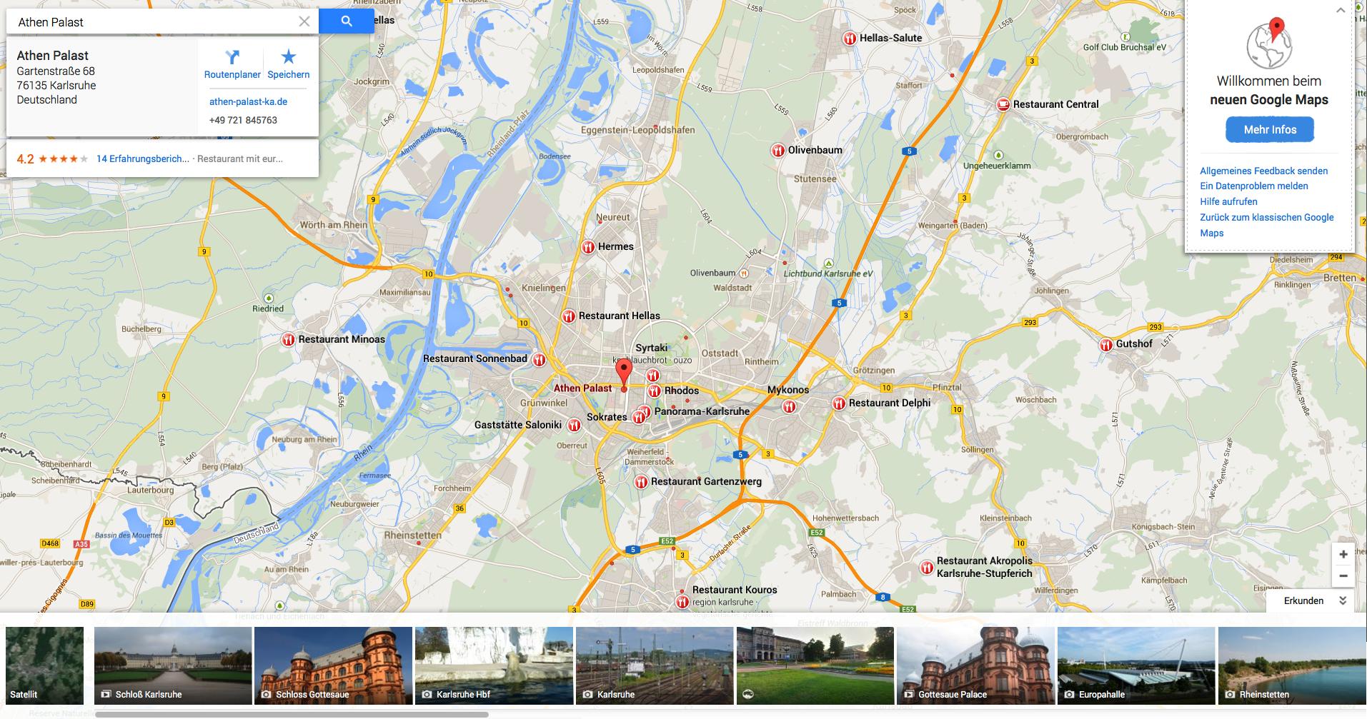 Die neue Version von Google Maps